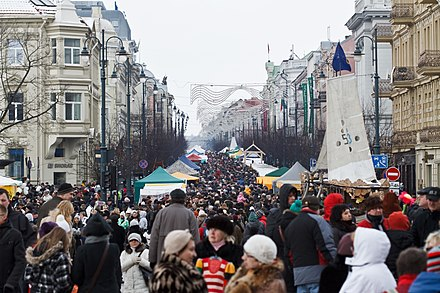 Kaziuko muge is held annually in the city in honor of Saint Casimir Kaziuko muge 2010.jpg