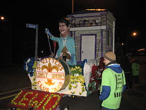 New Orleans: Krewe du Vieux Carre parade float...