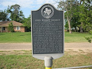 Kenney, Texas - Image: Kenney TX Historic Marker