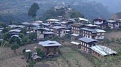 Khoma village, Lhuntse Dzongkha.jpg