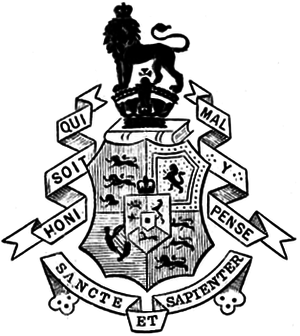 Coat of arms of King's College London - Image: King's Coat of Arms 1911