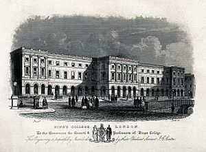 King's College London - King's College London in 1831, as engraved by J. C. Carter