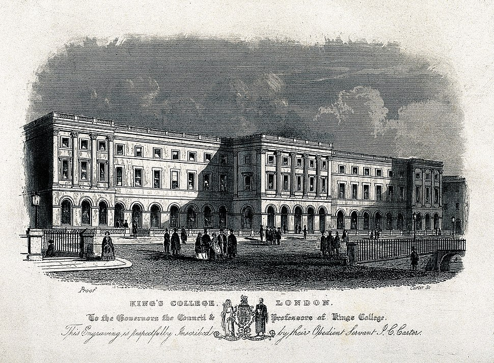 King's College, Strand, London. Engraving by J. C. Carter. Wellcome V0013842