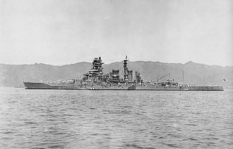 Japanese battleship Kirishima - Image: Kirishima Tsukumowan 1937