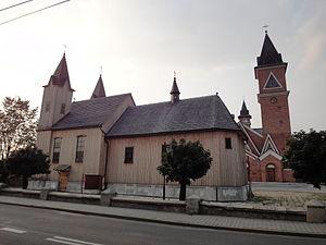 Bobrowniki, Silesian Voivodeship - Saint Lawrence church in Bobrowniki