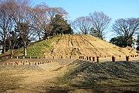 Noge-Ōtsuka Kofun tumulus, Tokyo, early 5th century.
