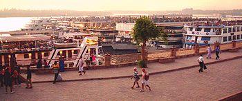 Cais da cidade de Kom Ombo, na margem direita do rio Nilo