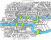 מפת קנינסברג, הנהר והגשרים מודגשים