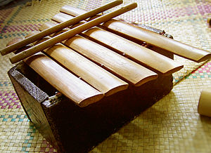 Gambang - A five-key bamboo version regularly used in performances by Kontra-Gapi, a modern ethnic music ensemble from the Philippines.