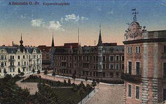 Olsztyn - Kopernikusplatz (postcard, 1917)