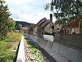 Králův Dvůr, Dibeřský potok, náměstí Míru čp. 57 a 220.jpg