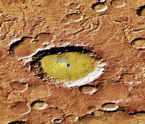 Kuiper (Martian crater) - Location of Kuiper Crater