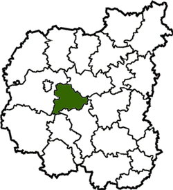 Location of Kulikivkas rajons