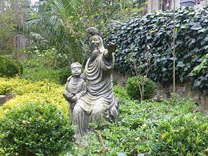 Semu - Ma Hajji, a Yuan Dynasty official in Yunnan (a descendant of Sayyid Ajjal Shams al-Din Omar), and his young son Ma He, future admiral Zheng He, as imagined by a modern Kunyang sculptor.