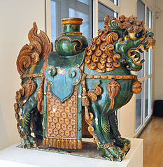 Temple roof figure of Manjusri's Lion, Qing Dynasty