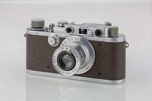 Leica III - Image: LEI0260 197 Leica II Ia Sn. 206617 1936 M39 Front view Bearbeitet