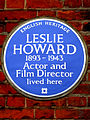 LESLIE HOWARD 1893-1943 Actor and Film Director lived here.jpg