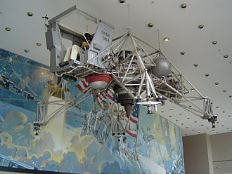 Lunar Landing Research Vehicle - LLTV, NASA 952 displayed in the lobby of Building 2 at the NASA Johnson Space Center, 2004
