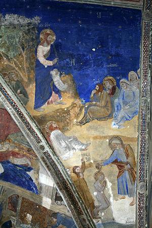 Matteo Giovanetti - Image: La vie de saint Martial Prédication du Christ devant saint Martial Voûtain nord