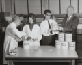 Laboratory staff examines first batches of new polymers 8049g5346.tiff
