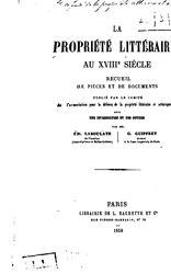 La propriété littéraire au XVIIIe siècle