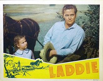 Tim Holt - Lobby card for Laddie (1940)