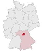 Lage des Landkreises Bamberg in Deutschland