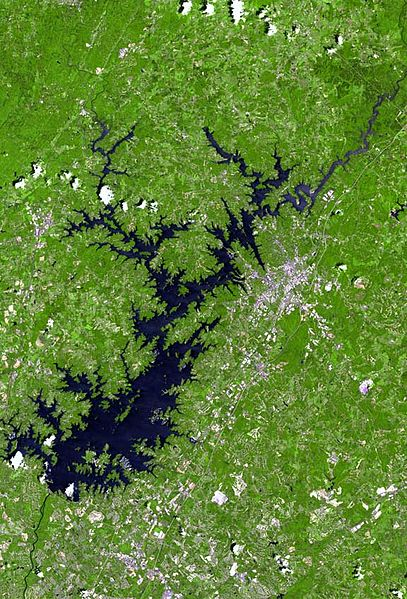 Tiedosto:Lake lanier satellite map.jpg
