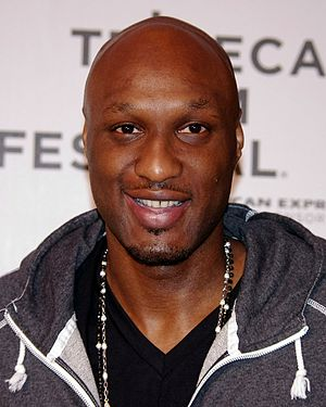 Lamar Odom - Odom at the 2012 Tribeca Film Festival