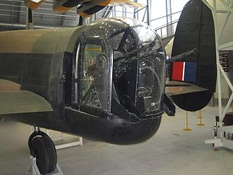 Tail gunner - A Nash & Thomson FN-20 turret fitted to an Avro Lancaster, Imperial War Museum Duxford (2006)
