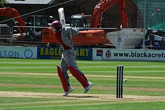 Justin Langer - Langer on the attack for Somerset in 2008