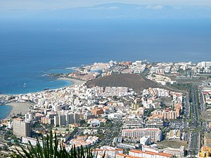 English: Las Americas (Tenerife) view from Mon...