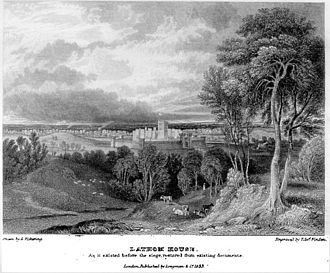 Siege of Lathom House - Illustration of Lathom House, prior to the siege