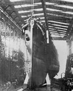 Launching of USS Montpelier (CL-57) 1942