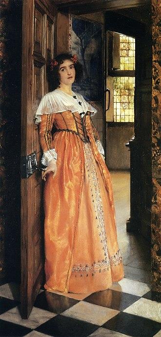Laura Theresa Alma-Tadema - At the Doorway (1898)