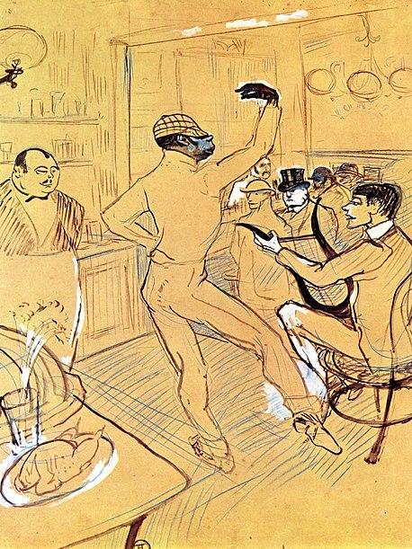 458px-Lautrec_chocolat_dancing_in_the_%27irish_american_bar%27_1896.jpg