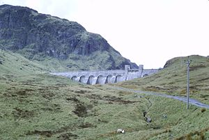 Breadalbane Hydro-Electric Scheme - The Lawers Dam is one of several providing Scotland with hydro-electric power.