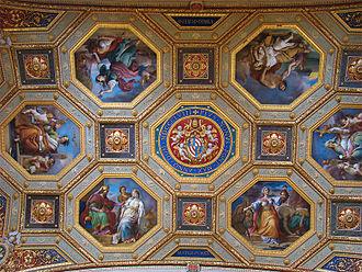 Francesco Podesti - Ceiling Frescoes in sala dell'Immacolata in Vatican Museum