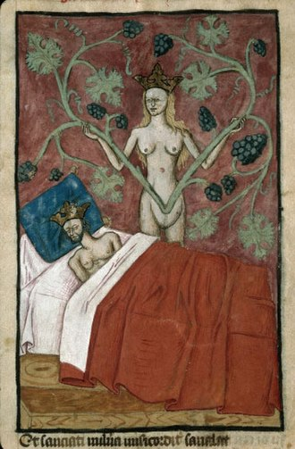 Astyages - Astyages's dream (France, 15th century)