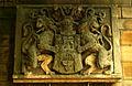 Leineschloss Hannover Leine Tafel mit Löwen und Wappen der Stadt.jpg