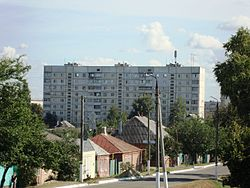 Skyline of Vovchansk