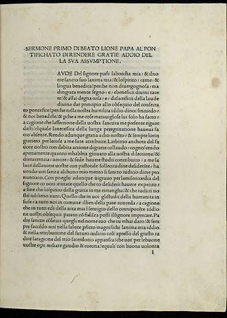 Pope Leo I - Sermones