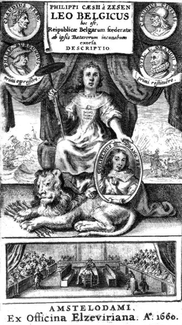 Leo Belgicus Philipp von Zesen