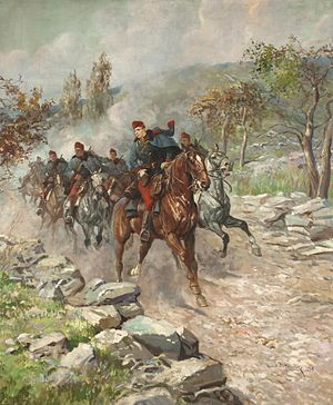 Dragoon - Austro-Hungarian dragoons 1915, by Leonard Wintorowski