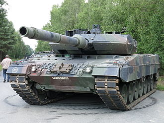 Military vehicle - A Leopard 2A7 of the German army.