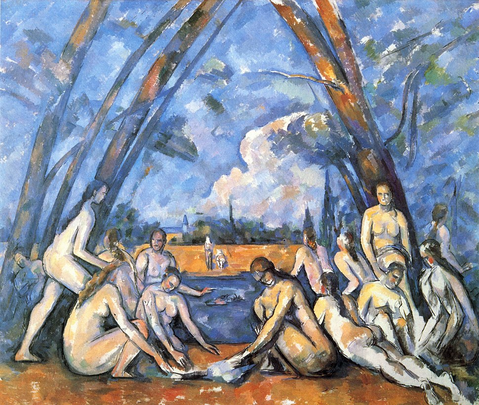 Les Grandes Baigneuses, par Paul Cézanne, Yorck