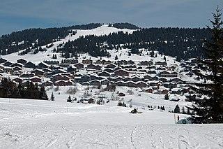 Les Saisies ski resort in Savoie, France