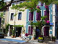 Leucate Village (Aude), coloured house.jpg