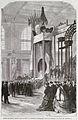 Leurs majestés impériales visitant la section française dans la Grande galerie des machines.jpg