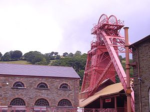 Glamorgan - Lewis Merthyr Colliery, Rhondda which, since 1986, has been redeveloped for opening to the public as the Rhondda Heritage Park.